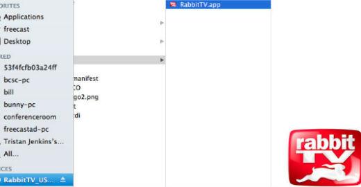 Click on the Rabbit TV app > Then Click on the Rabbit TV Start button ...